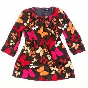 Baby GAP Brown Corduroy Autumn Leaf Girls Dress
